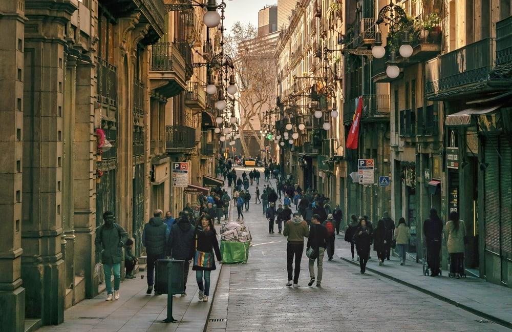 street at Gothic Quarter